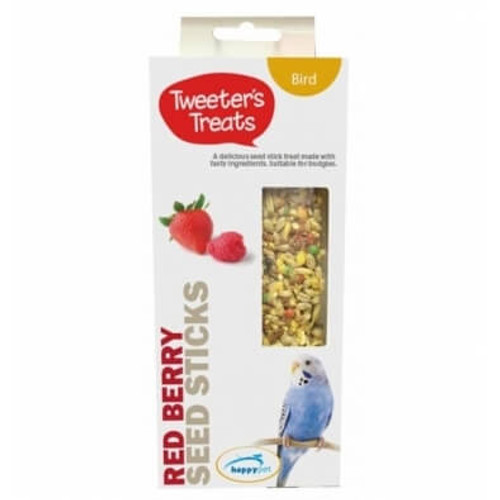 Tweeter's Treats Seed Sticks for Budgies - Red Berry
