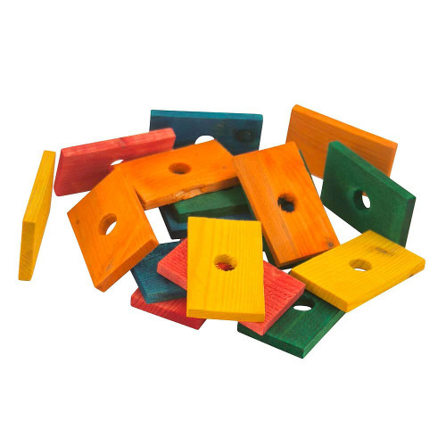 Coloured Wood Slices - Small - Parrot Toy Parts - Pack of 18