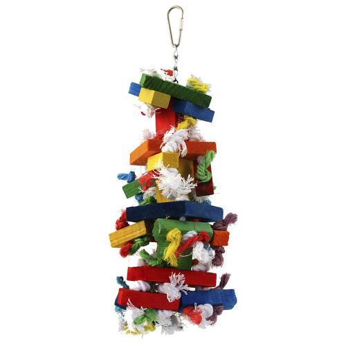 Knots `n Block Parrot Toy - Medium