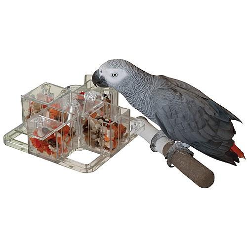 Foraging Carousel Reusable Enrichment Toy for Parrots