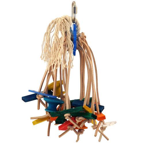 Spiddy - Medium - Multi Textured Parrot Chew Toy
