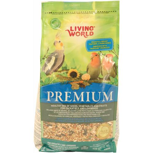 Hagen Living World Lovebird & Cockatiel Premium Seed Food - 908g