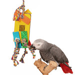 Almond Treasure Chest Foraging Toy for Parrots - Medium