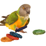 Coloured Willow Ring Woven Chew Parrot Toy