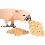 Natural Maize Mat Chewable Toy for Parrots - Pack of 2