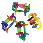 Chain Link Rattles - Small - Parrot Foot Toys - Pack of 4