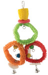 Natural Loofah Coloured Rings Parrot Toy