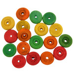 Colourful Wood Wheels Medium - Parrot Toy Parts - Pack of 18