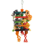 Stacks and Spools - Wood and Rope Parrot Toy