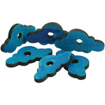 Blue Wooden Clouds - Parrot Toy Parts - Pack of 20
