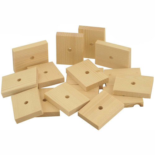 Natural Wood Slats Medium - Parrot Toy Parts - Pack of 16