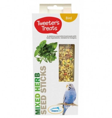Tweeter's Treats Seed Sticks for Budgies - Mixed Herbs