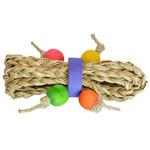Mini Seagrass Tumbler Parrot Foot Toy