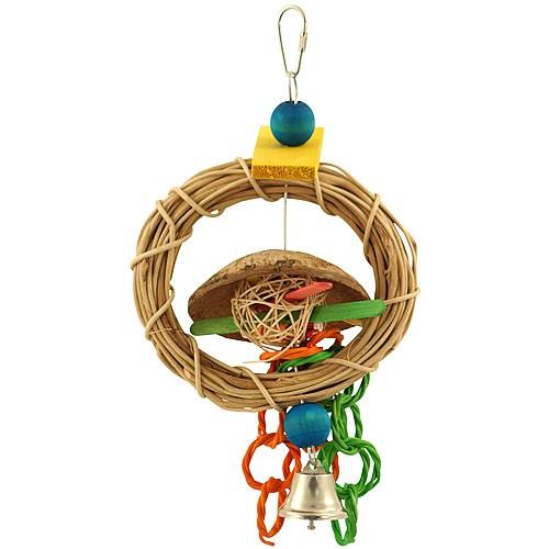 Ring Swinger Woven Vine Parrot Toy