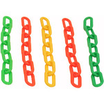 Colourful Plastic Chain Links - Large - Parrot Toy Parts - 5 Pack