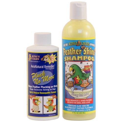 Pluck No More & Feather Shine Shampoo Combo