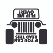 Decal, DEC-FLIP - Jeep Flip Me Over Decal