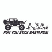 Decal, DEC-RUN - Run Away Stick People Decal