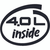 Decal, DEC-40L - 4.0L Inside White Oval Decal