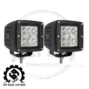 "Offroad 515 Cree LED 3"" Square ATV/UTV Boat Truck Jeep Light 12v Spot Beam"
