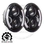Offroad 515,  7 Inch Round LED Halo Headlights For Jeep Wrangler, JK, TJ, LJ