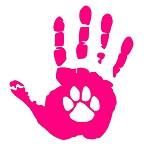 Dog Wave Hand Decal