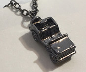Jeep Necklace, Black, Silver, or Gunmetal