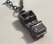 Jeep Necklace, Black, Silver, or Gunmetal
