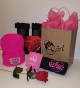 JeepHut Jeep Girl Valentine's Day Beanie Gift Bag