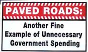 PAVED ROADS - VISOR DECAL