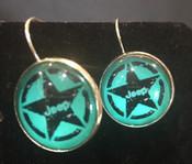 Jeep Aqua Star Earrings