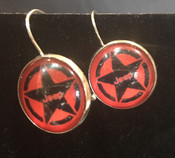 Jeep Red Star Earrings