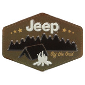 JEEP CAMPING EMBOSSED TIN MAGNET
