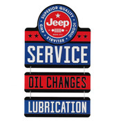 JEEP SERVICE LINKED EMBOSSED TIN SIGN