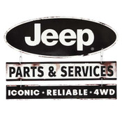 JEEP LINKED EMBOSSED TIN SIGN