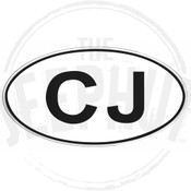 Decal, DEC-CJ - CJ Oval Euro-Style Decal
