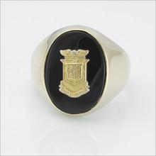 ΔKE Oval Black Onyx Crest Ring