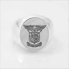 ΔKE Incised Coat of Arms Ring