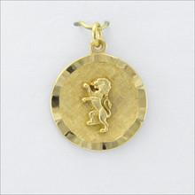 ΔKE Round Ribbon Charm with Rampant Lion