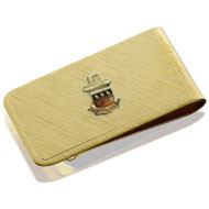 Acacia Money Clip with Crest