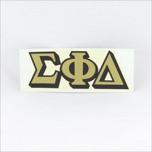 ΣΦΔ Monogram Decal