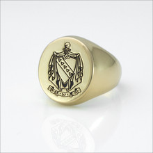 TKE Incised Coat of Arms Ring