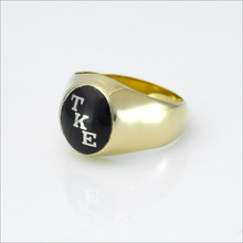 TKE Encrusted Onyx Ring