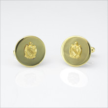 "TKE ¾"" Polished Cufflinks with Coat of Arms"