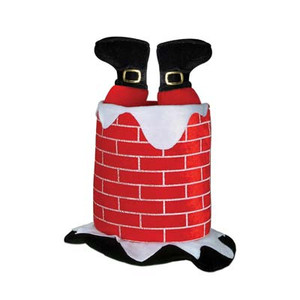 Plush Santa Chimney Hat