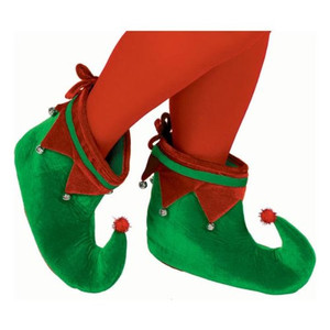 Green & Red Elf Shoes Party Accessory