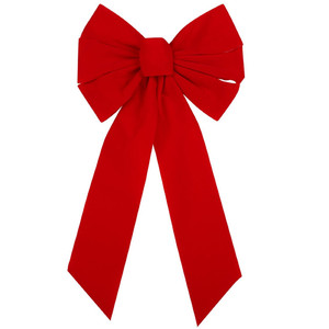 Red Wreath Holiday Bow