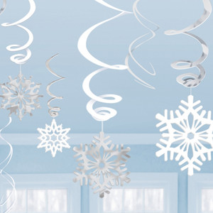 Snowflake Value Pack Swirl Decoration