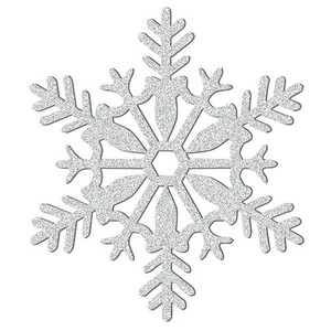 Silver Glitter Snowflake Hanging Decoration