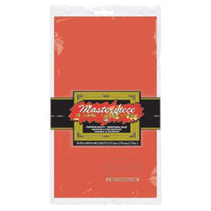 Masterpiece Plastic Rectangular Tablecover Red